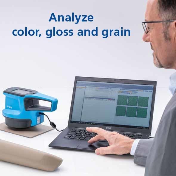 Spectro2profiler – pomiar barwy, połysku, odbicia 2D i struktury 3D powierzchni 4